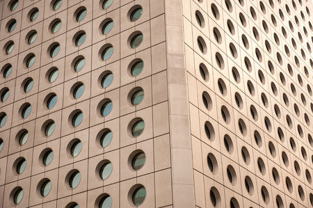 free stock photos: Round windows on a large building