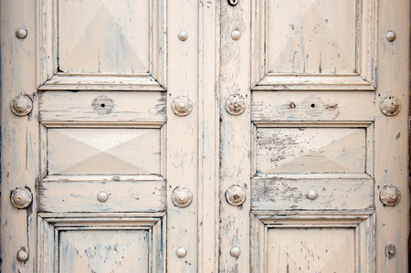 free stock photos: Large white double vintage style front door