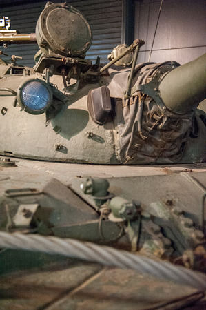 armored: Close up of a military armored tank turret