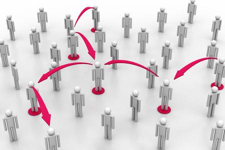 Social network concept Banco de Imagens