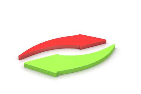 Investment arrows cycle   Stock Photo