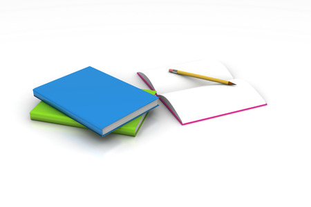 Books and pencil, education concept