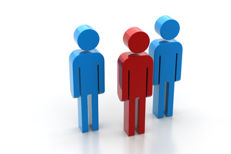 3d people and leader Stock Photo