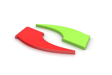 economic cycle: Investment arrows cycle   Stock Photo