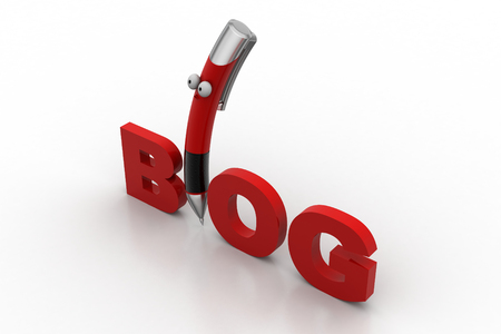comunicación escrita: Blog writing concept
