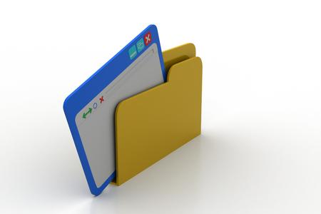 Browser window on file folder