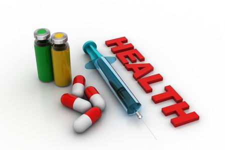 Medicines with syringe
