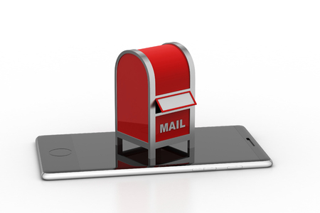 Mail box with smart phone