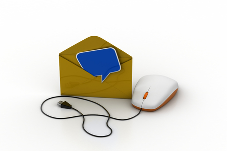 Computer mouse connected with e mail