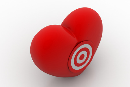 Red Heart  with target icon