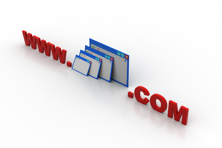 Web pages with web address Stock Photo
