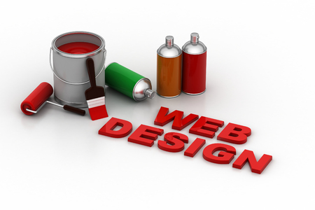 Designing concept with paint Stock Photo