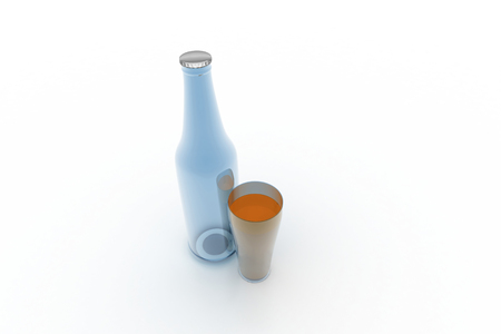 bottle with glass