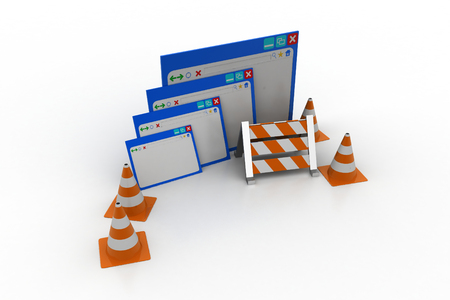 Web page under construction concept