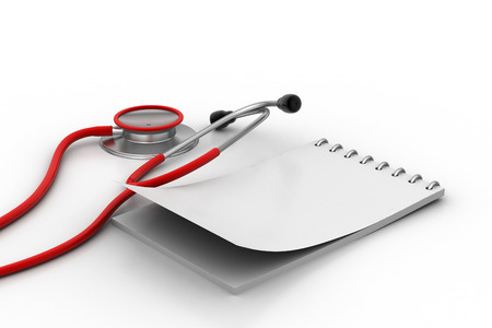 prescription pad: Note pad with stethoscope
