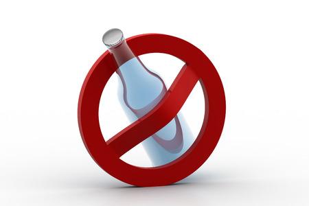 No alcohol use concept