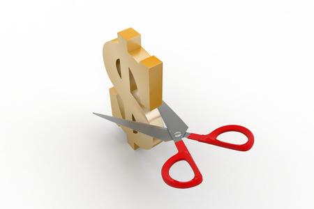 scissors cut the dollar sign