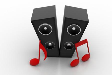 subwoofer: Audio speaker subwoofer system with speaker