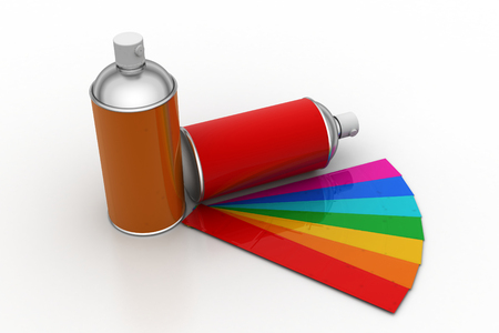 gas can: Paint bottle with color