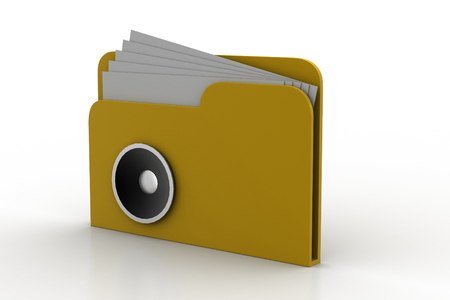 web directories: 3d music file with speaker icon  Stock Photo
