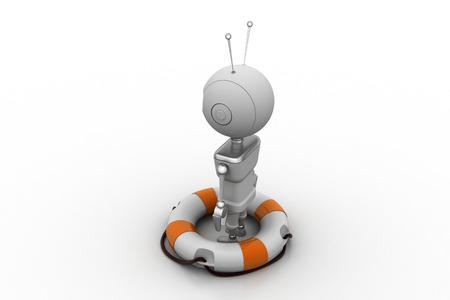 lifebuoy with robot