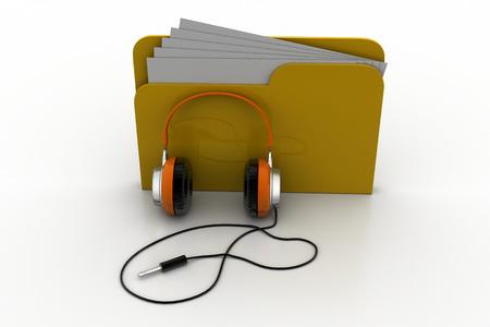 directory: Music file folder Stock Photo