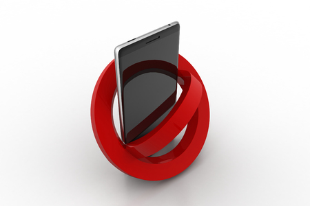 Smart phone prohibition concept Stock Photo