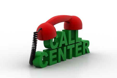 Call centre concept Stock Photo