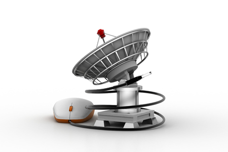 space station:   satellite dish for internet application Stock Photo