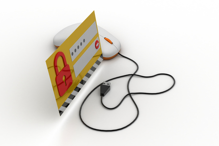 Secure account login concept Stock Photo