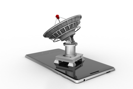 Creative concept icon of satellite dish for mobile application