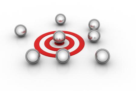 Target dart with ball