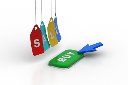 Sales tag hanging