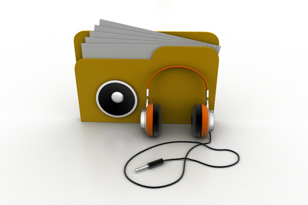 directory: 3d music file with head phone
