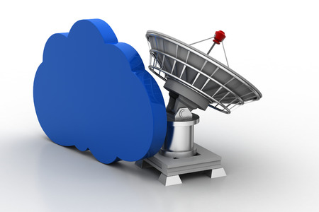 receiver: Creative concept icon of satellite dish for cloud concept