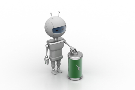 Robot with chargeable battery