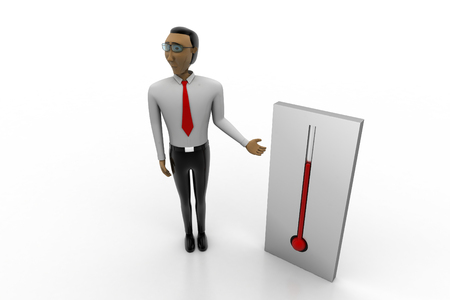 Man showing Thermometer   Stock Photo