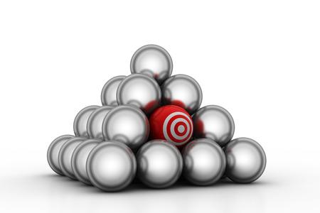 Target balls Stock Photo