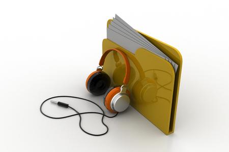 Music file folder Stock Photo