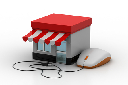 communications tools: Online shopping concept