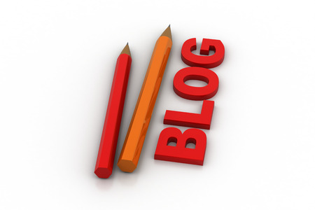 Blog writing concept