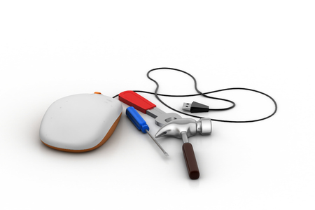 input device: Computer mouse with repairing equipments