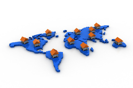 World wide connection of bank