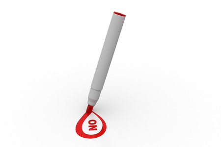 Red marker writing NO word Stock Photo