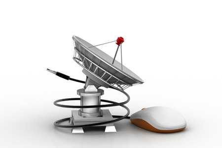 space antenna:   satellite dish for internet application Stock Photo