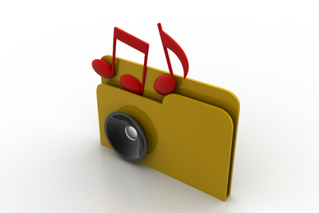 directory: 3d music file with music icon
