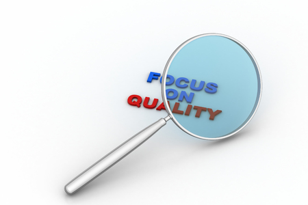 Quality checking with magnifier