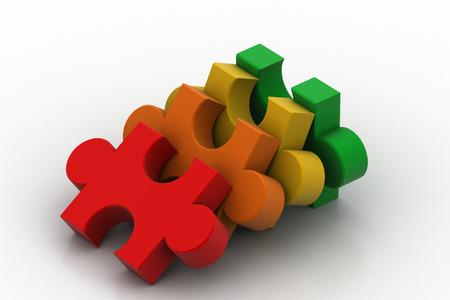 Jigsaw Puzzle Success Concept Stock Photo
