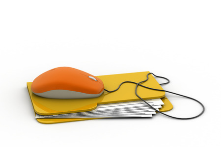 web directories: Computer mouse and yellow folder