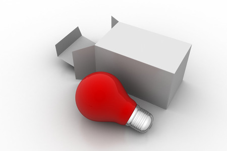 Red bulb with packet